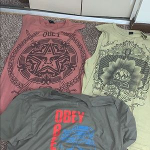 Obey T-shirt and cut off set